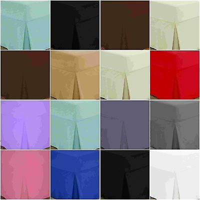Deep Fitted Pleated Valance Sheets 100% Egyptian Cotton 200 THREAD COUNT