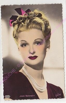 Cpsm Rppc Star Joan Bennett Photo United Artists Viny 119