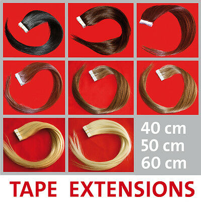 Cabello natural Tapes 40/50/60 cm Pelo Extensión Extensiones Remy Skin Weft AAA
