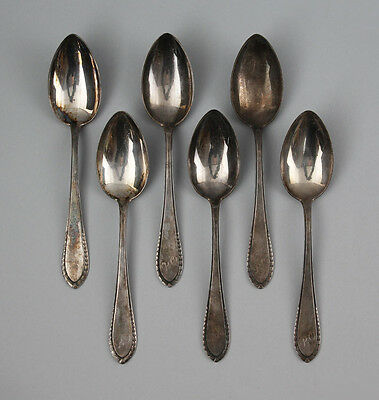 6 silver-plated Soup spoons Initials RO 99830139