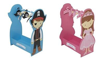 Personalised Wooden Dress Up Clothing Rail Boy's Pirate or Girl's Princess