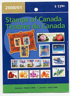 Weeda Canada 2008 January-March Quarterly Pack, sealed! Face value $21.28