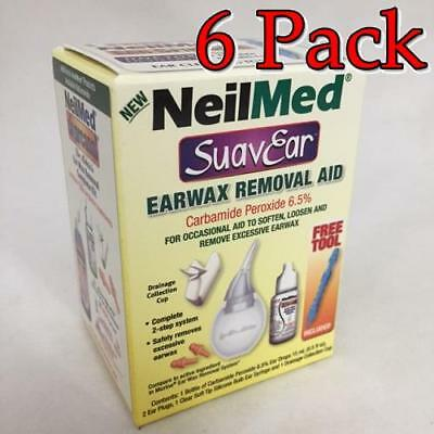 NeilMed SuavEar Earwax Removal Aid Kit, 1ct, 6 Pack 705928603066A385