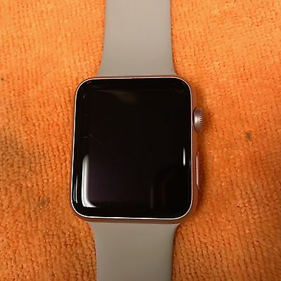 Apple Watch 42MM 7000 Series Aluminum Rose Gold for parts only or not working!