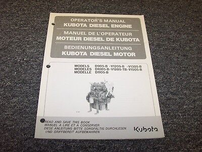 Kubota d905b v1205b v1305b d1005b v1205tb diesel engine owner kubota v1505b d1105b diesel engine owner operator operators manual fandeluxe Images