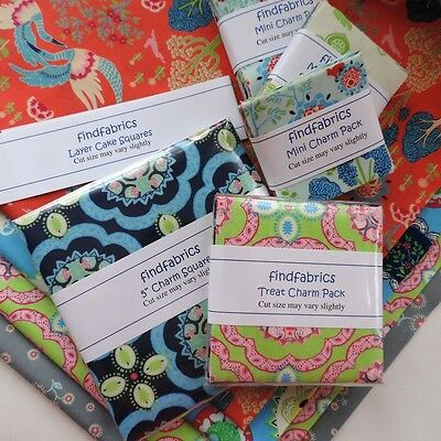 """QUILT Moda Manderley • 5"""" Charm Pack 10"""" Layer Cake Square Pieces"""