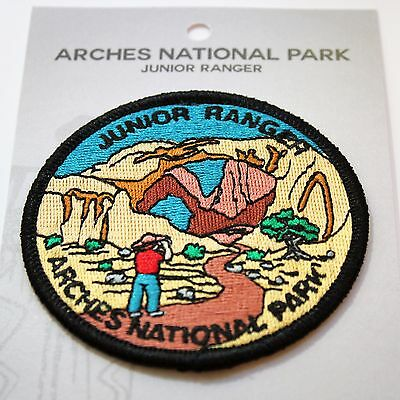 Official Arches National Park Junior Ranger Souvenir Patch - Moab Utah