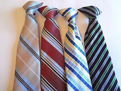 Boy's Pre-Tied Neck Ties (4) Ties For Ages 4 - 7  Years