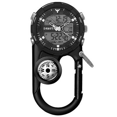 Dakota II Analog and Digital Clip Watch - Black