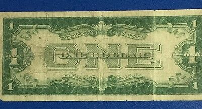 """1928A $1 Blue """"FUNNY BACK"""" SILVER Certificate X500 Old US Currency"""