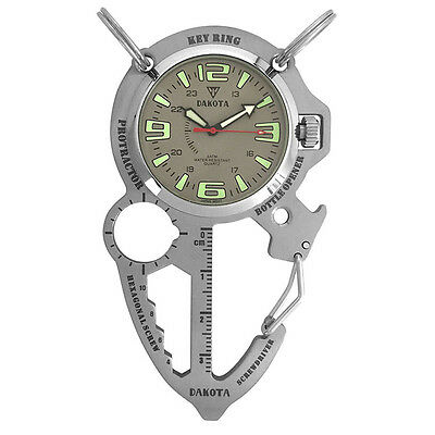Dakota Watch Company Multi-Tool Clip Watch Silver