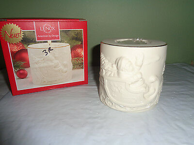 Lenox - Radiant Light -  Santa Votive Candle Holder - # 853734 - New