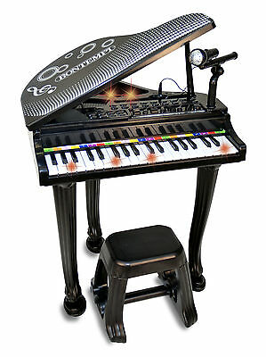 Electric Piano with Microphone and Stool - Kids Piano - Musical Toys - Bontempi
