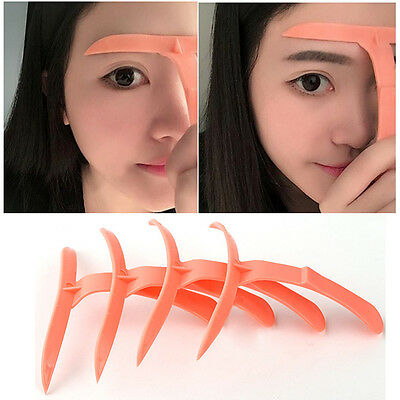 HOT 4PCS MICROBLADING Eyebrow Shaper Template Stencil Ruler ...