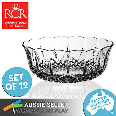 12x RCR Crystal Small Bowl Opera Coppa Premium Italian Table Porringer Glass