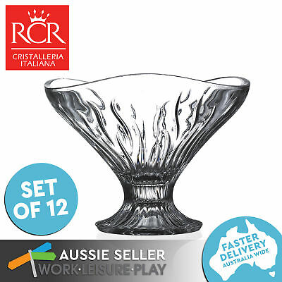 12x RCR Crystal Small Bowl Opera Coppa Premium Italian Table Porringer Glass 13.