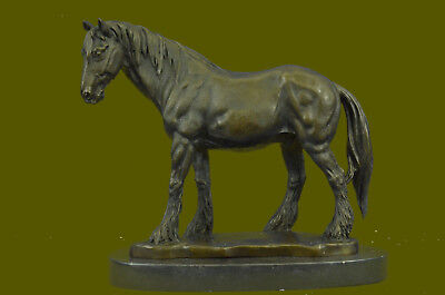 Art Deco Sculpture Running Horse Bronze Statue Hand Made Marble Base Sale Figure