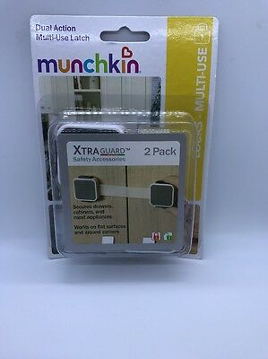 munchkin xtraguard dual action multi use latches 2 count, BRAND NEW IN BOX