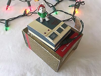 Santas Answering Machine Magic Hallmark Ornament Sound Light Christmas Mouse 92