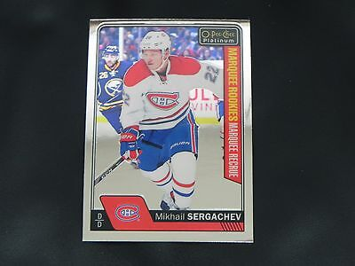 2016-17 OPC Platinum Marquee ROOKIE #161 Mikhail Sergachev Montreal Canadiens