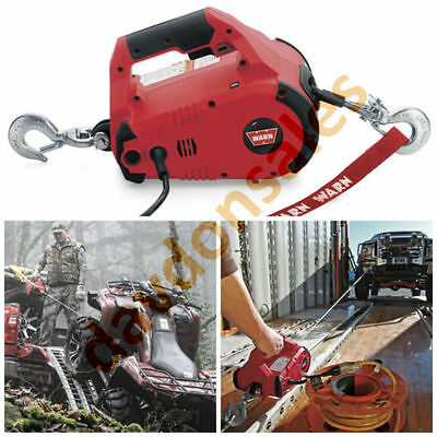 Warn Winch Come Along Puller Hoist Cable Electric Ton LB Hook Truck ATV Tool