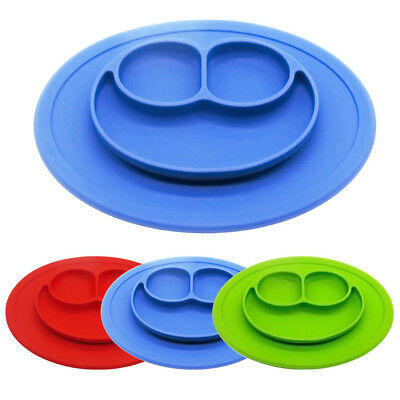 Cute Silicone Mat Baby Kids Suction Table Food Tray Placemat Plate Bowl Dish -US
