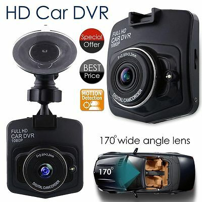 1080P HD Car DVR Dash Camera Video Cam Recorder G-Sensor Night Vision