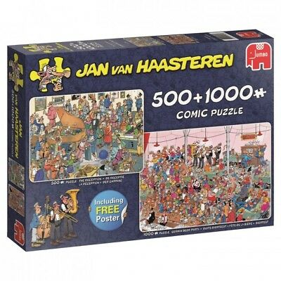 Jumbo Haasteren: Let's Party! 500 + 1000 pieces jigsaw puzzle