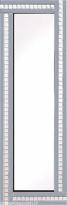 Art Deco Crystal Glass Full Length Smoked Wall Mirror 120x40cm**SPECIAL OFFER**
