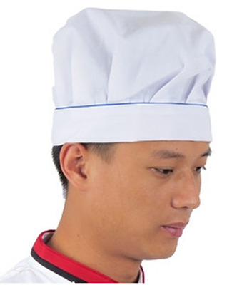 Chef Hat  Kitchen Unisex Adult  Baker BBQ Kitchen Cooking Hat  White Large Blue