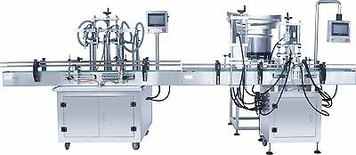 4 head liquid filling machine Syrup packing machine Fruit Juice Filling&conveyor