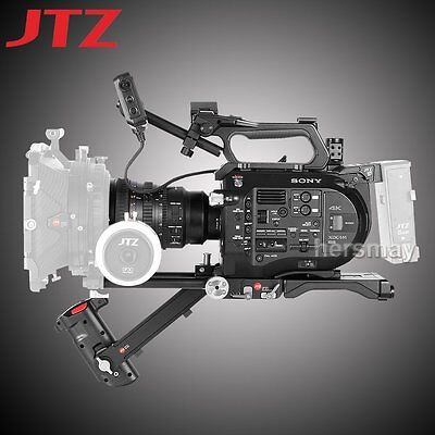 JTZ DP30 Camera Cage & Baseplate Shoulder Rig 15mm Rod KIT For SONY FS7 PXW-FS7