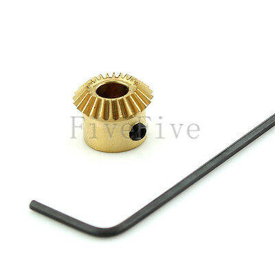 20T 3/4mm Bore 0.5 Modulus Metal Umbrella Tooth 90° Pairing Bevel Gear 20 Teeth