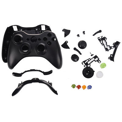 Wireless Controller Full Shell Case for XBOX 360 Black BF
