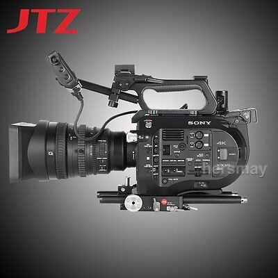 JTZ DP30 Camera Cage Baseplate Rig 15mm Rod Support For SONY FS7 PXW-FS7 Camera