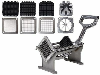Potato French Fry Fruit Vegetable Commercial Cutter Slicer Cutting W/4 Blades WA