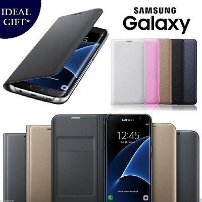 NEW Leather PU Flip Wallet Book Case Cover for Samsung Galaxy S7 S6 Edge S6 S5