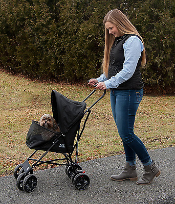 NEW Pet Stroller Trolley Dog Cat Puppy Carriers Crate Backpack Travel Foldable