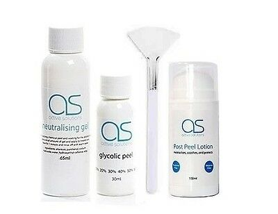 Glycolic 30% 40% 50% Acid  KIT incl Peel, Neutralising Gel, Post Peel Lotion