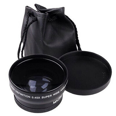 0.45x 58mm Wide Angle Macro Lens For Canon EOS 1100D DSLR Rebel T1i T2i XTi XSi