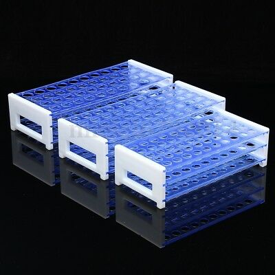 Plastic Test Tube Stand Bracket Rack for 13-18MM Test Tubes 40/50 Hole Positions