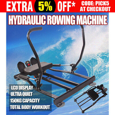 Hydraulic Rowing Machine Home Exercise Fitness Gym Rower Abdominal Resistance AU