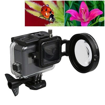 58mm 16X For GoPro HERO 3+/4 5 Macro Lens Close-up Filter Kit Proffesional