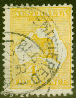 Australia 1913 4d Orange-Yellow SG6a Good Used
