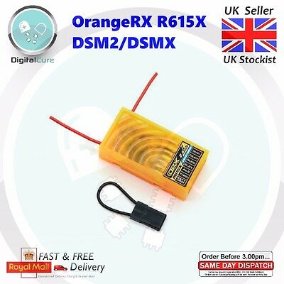 OrangeRX R615X DSM2 / DSMX Compatible 6Ch 2.4GHz CPPM  Receiver - for Spektrum