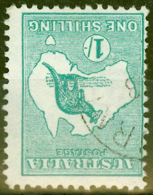 Australia 1916 1s Blue-Green SG40a Wmk Inverted Fine Used