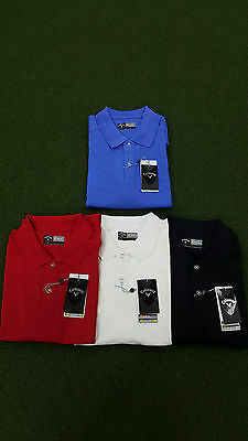 'NEW' Callaway Golf Polo with Logo - 4 Colours Many Sizes