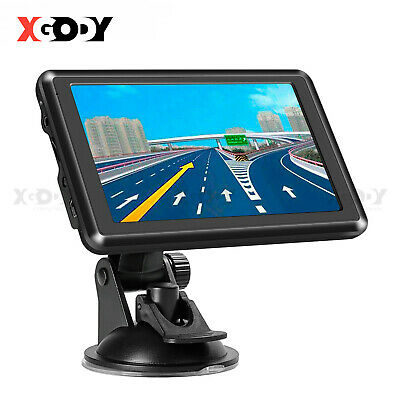 XGODY 7'' Car Truck GPS Navigation Bluetooth 8GB+Reversing View Camera+Sunshade