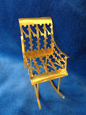 Antiker Puppenstuben Schaukelstuhl Erhard & Söhne um 1900 antique rocking chair