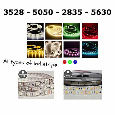 1/5M SMD 2835/3528/5630/5050 RGB LED Light Strips IP20 or IP65 Waterproof